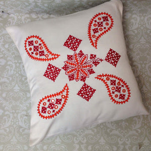 Silk Embroidered Cushion Covers - Sarang