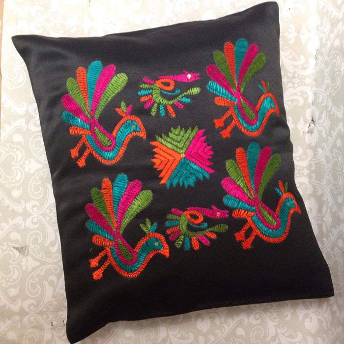 Silk Embroidered Cushion Cover
