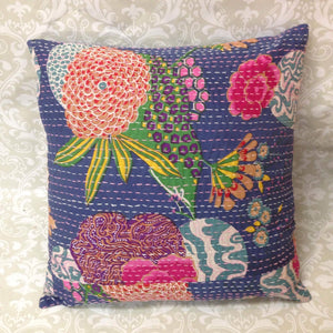 Cotton Quilted Cushion Cover - Sarang