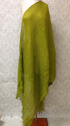 Plain Cotton Dupatta - Sarang