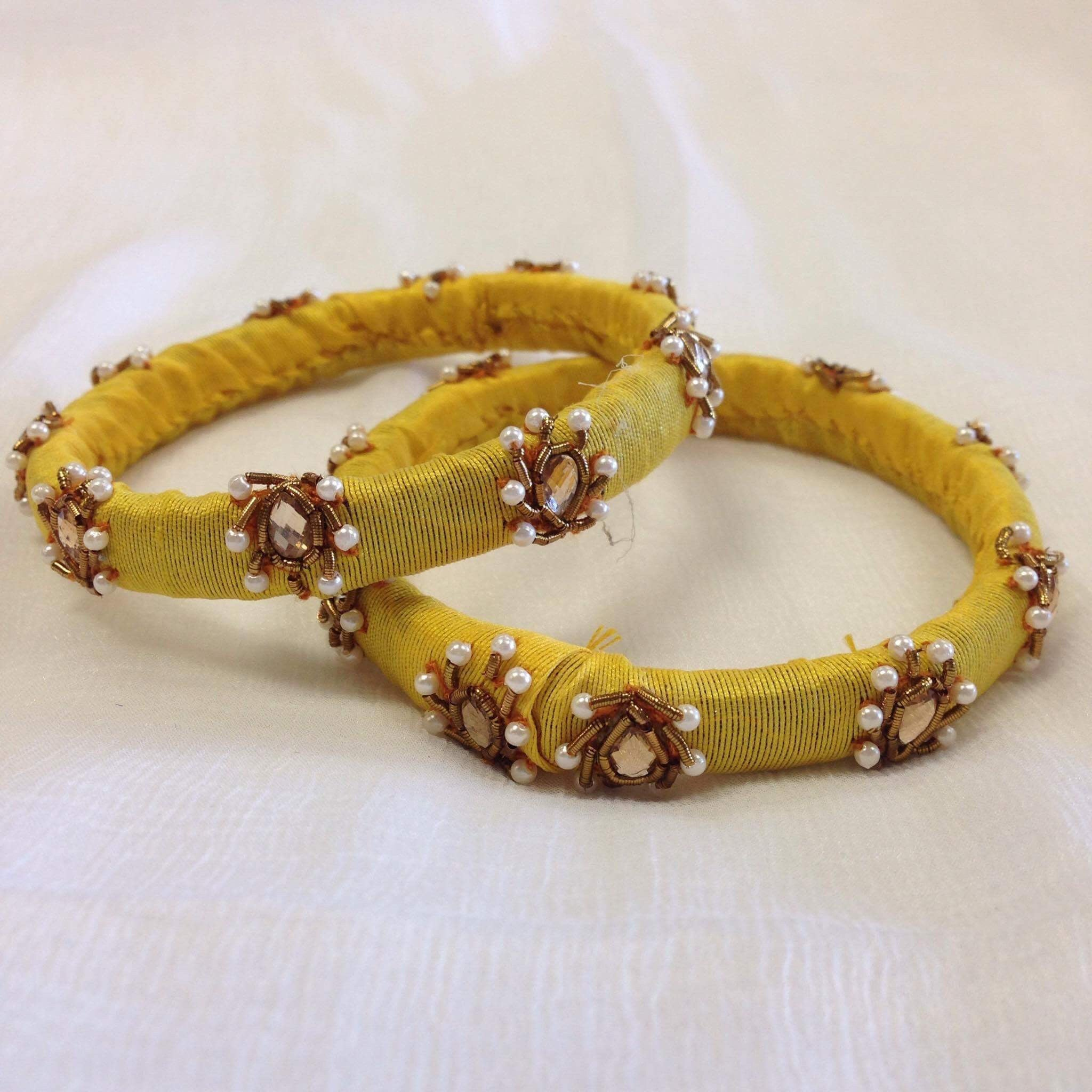 Silk Hand Crafted Bangles – Sarang