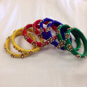 Silk Hand Crafted Bangles - Sarang