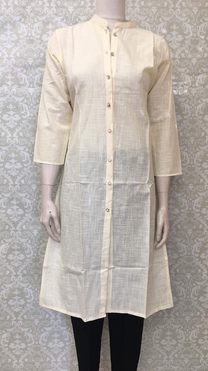Plain Cotton Rayon Kurta