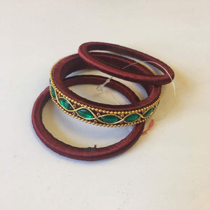 Handmade Silk Thread Bangle Set - Sarang
