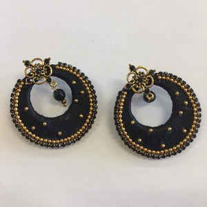 Handmade Silk Thread Earrings - Sarang
