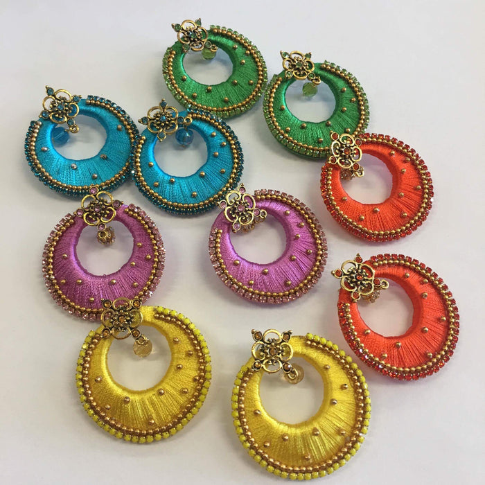 Handmade Silk Thread Earrings