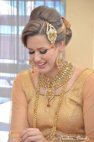 Golden stone Bridal set - Sarang