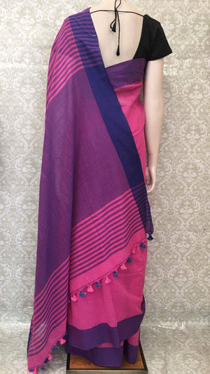 Handwoven Linen Saree