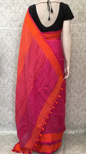 Exclusive Linen Saree