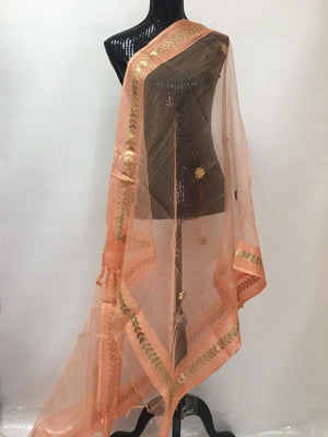 Chanderi Silk Gota Border Dupatta