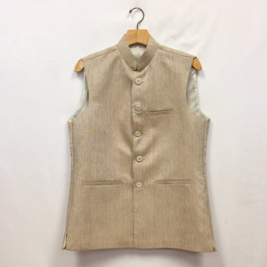 Men's Silk Vest - Cream