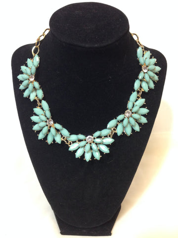 Antique Sea Green Necklace - Sarang