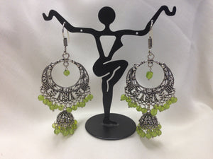 Oxidized Fabulous Silver Earrings - 1