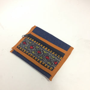 Mini Denim embroidered clutches - 2
