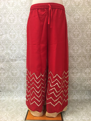 Georgette Flared Palazzo Pant - Sarang