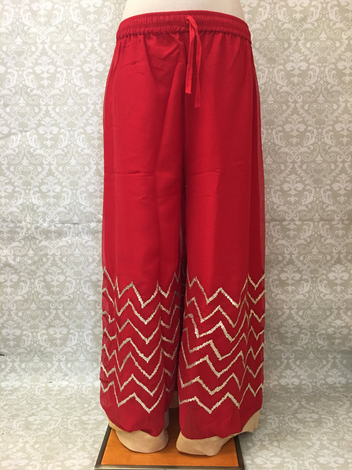 Georgette Flared Palazzo Pant