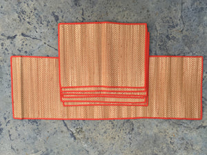 Woven table runner with dining table mats - Sarang