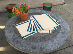 White table mat - Sarang