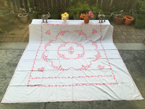 Hand embroidered bed spread - Sarang