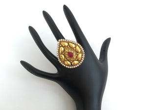 Kundan Indian Golden Ring - Sarang