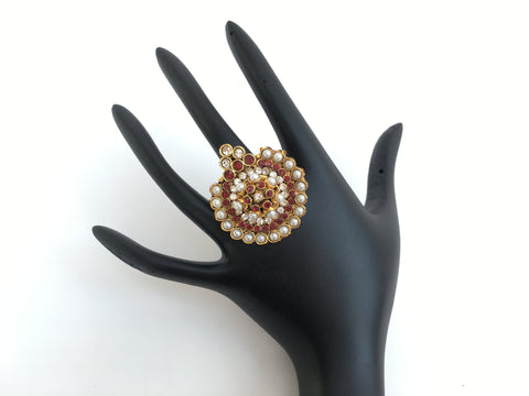 Indian Traditional Jewelry, Bridal Ring - Sarang