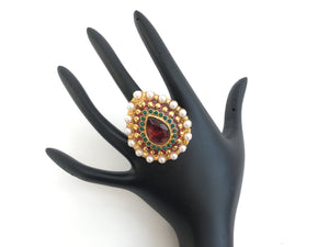 Antique Leaf Designed Ring - Sarang