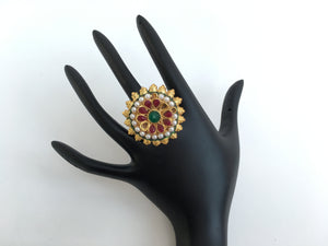Golden Tone Adjustable Ring - Sarang
