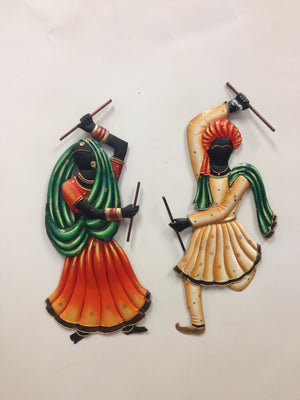 Dandiya Playing Couple Wall Hanging