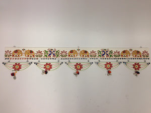 Lippan Kaam Toran (Mud & Mirror Work Door Hanging)