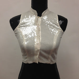 Party Wear Stylish Blouse -White - 1