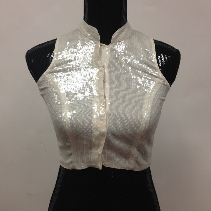 Party Wear Stylish Blouse -White