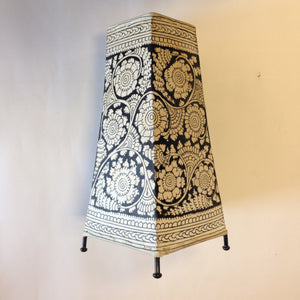 Hand Painted Small Leather Lampshade - 3