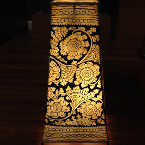 Hand Painted Small Leather Lampshade - 1