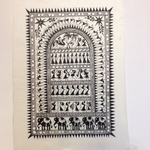 Frameable Warli Art Painting On Silk - 6
