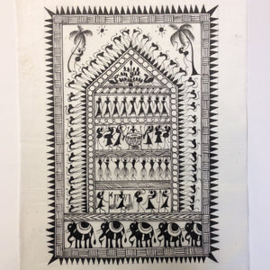 Frameable Warli Art Painting On Silk - 5