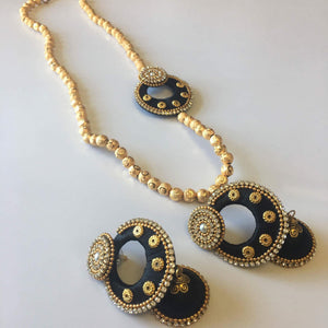 Silk Thread Necklace Set - Sarang