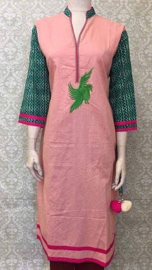 Cotton Embroidered Kurta - Sarang