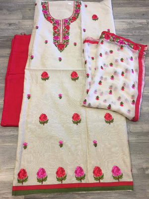 Unstitched Suit Fabric - Sarang