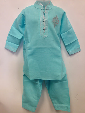 Cotton Kurta - Sea Green - Sarang