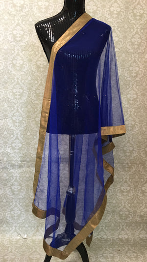 Mukaish Work Net Dupatta - Sarang
