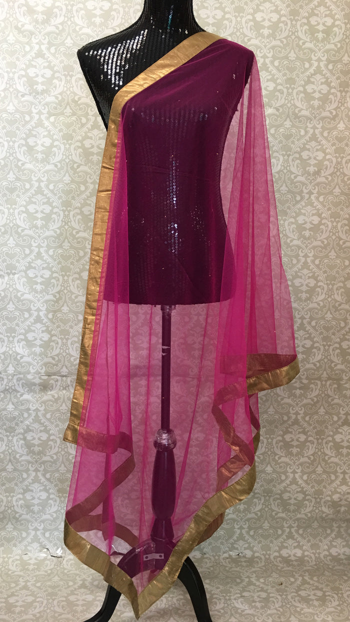 Mukaish Work Net Dupatta
