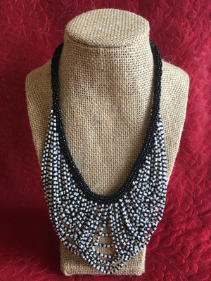 Handmade Bead Necklace, Ethnic Jewelry - 1