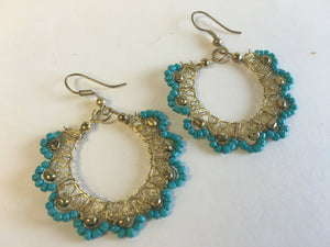 Handmade Bead Earrings - 2