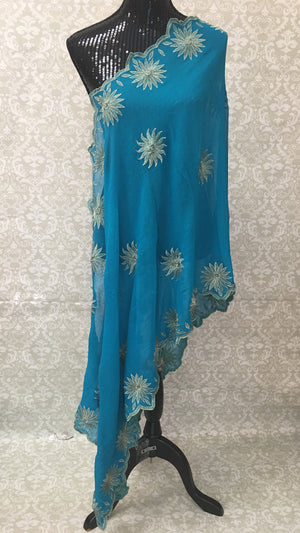 Georgette Embroidered Dupatta - Sarang
