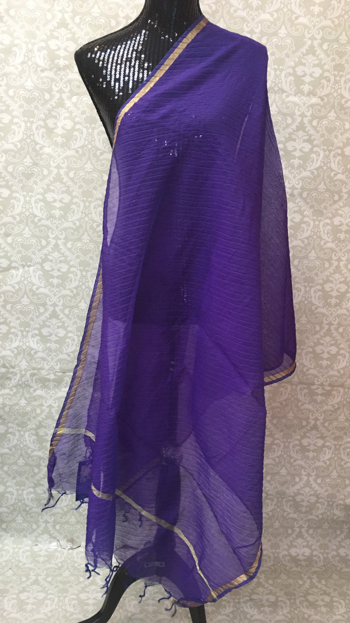 PLAIN CHANDERI DUPATTA-(COLORS AVAILABLE)