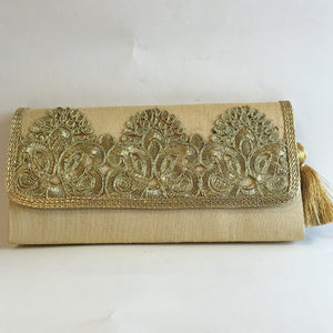 Silk Embroidery Clutches - Red, Green, Orange, Maroon, Blue, Gold, Black - 8