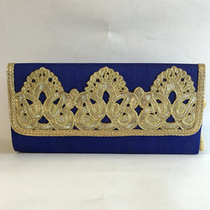 Silk Embroidery Clutches - Red, Green, Orange, Maroon, Blue, Gold, Black - 6