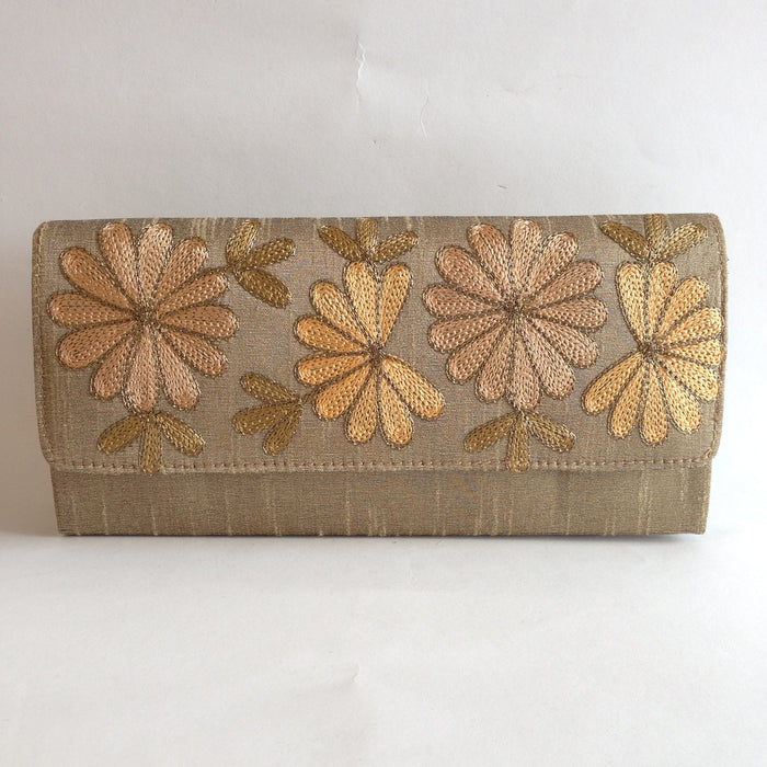 Silk Embroidery Style Clutch