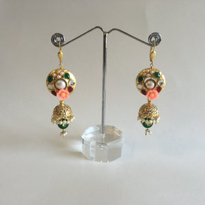 Antique Gold Earrings - 1