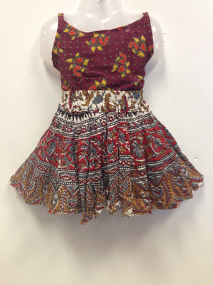 Rajasthani Print Skirt and Top - Multi color